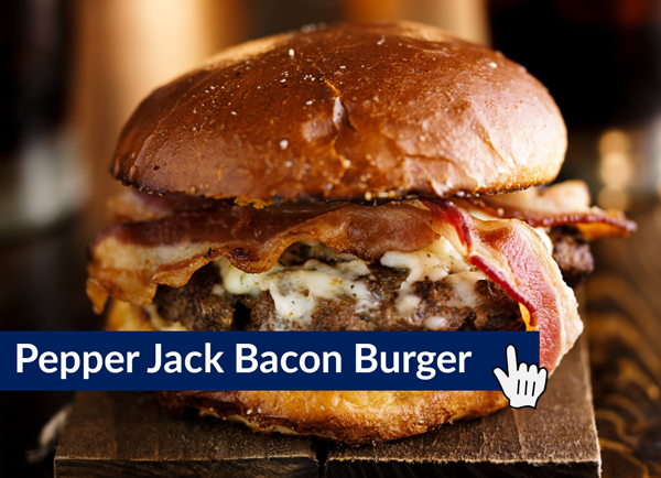 pepperjack bacon burger
